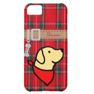 Dibujo animado amarillo personalizado de Labrador  Funda Para iPhone 5C