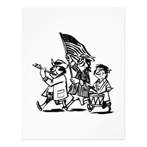Dibujo animado americana membretes personalizados