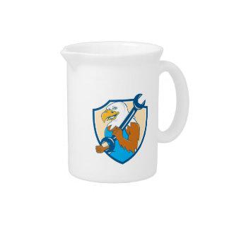 Dibujo animado americano del escudo de la llave jarras para bebida