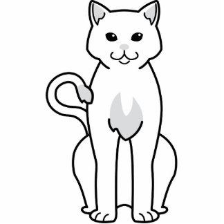 Dibujo animado americano del gato del Ringtail Esculturas Fotográficas