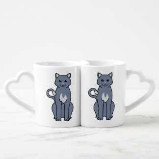 Dibujo animado americano del gato del Ringtail Set De Tazas De Café