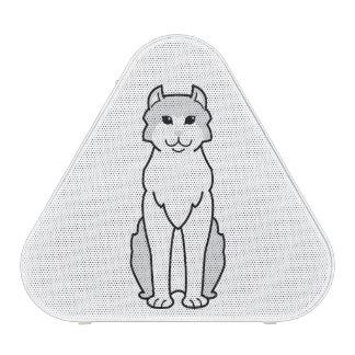Dibujo animado americano del gato del rizo altavoz bluetooth