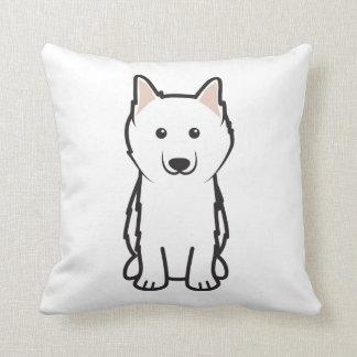 Dibujo animado americano del perro esquimal almohada