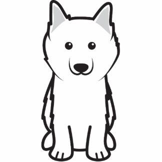 Dibujo animado americano del perro esquimal esculturas fotograficas