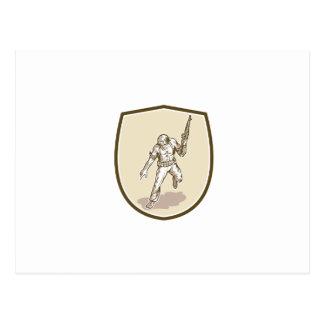 Dibujo animado americano del rifle de Armalite del Tarjeta Postal