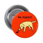 Dibujo animado amistoso Labrador del laboratorio a Pins