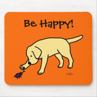 Dibujo animado amistoso Labrador del laboratorio a Alfombrillas De Raton