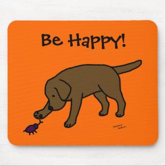 Dibujo animado amistoso Labrador del laboratorio d Alfombrillas De Ratón
