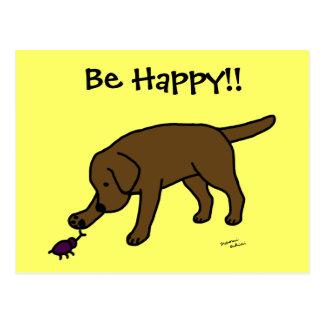 Dibujo animado amistoso Labrador del laboratorio d Tarjeta Postal