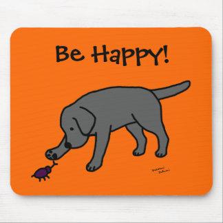 Dibujo animado amistoso Labrador del laboratorio n Alfombrillas De Ratón