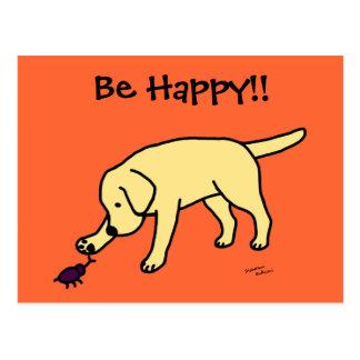Dibujo animado amistoso Labrador del laboratorio Postal