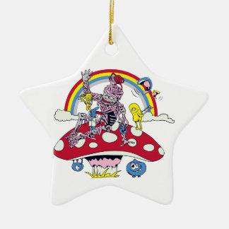 dibujo animado amistoso lindo del vector de la dic ornamento de navidad
