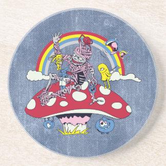 dibujo animado amistoso lindo del vector de la dic posavasos de arenisca