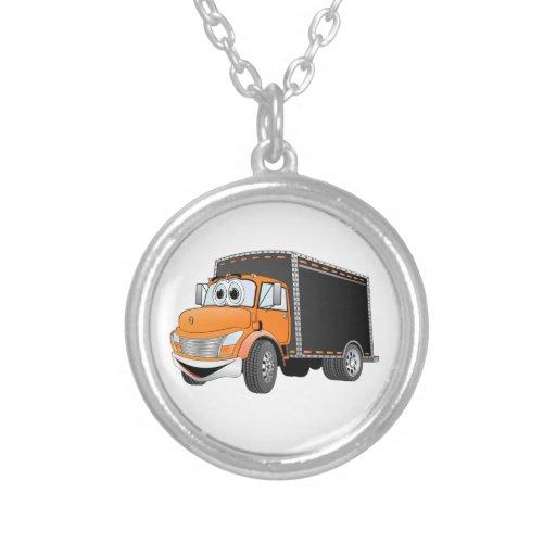 Dibujo animado anaranjado de Black Box del camión  Collar