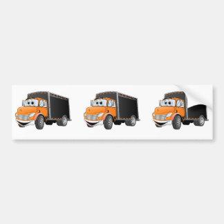 Dibujo animado anaranjado de Black Box del camión  Pegatina Para Auto