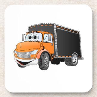 Dibujo animado anaranjado de Black Box del camión  Posavasos
