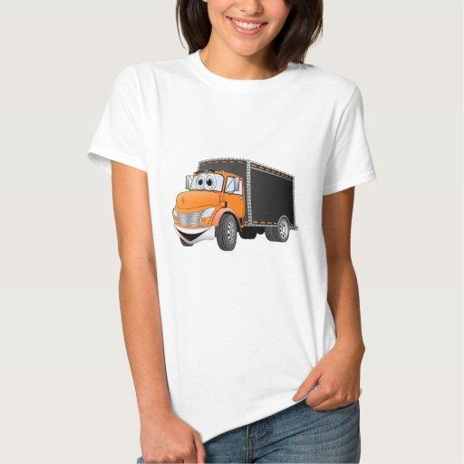 Dibujo animado anaranjado de Black Box del camión Remeras