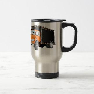Dibujo animado anaranjado de Black Box del camión  Tazas De Café