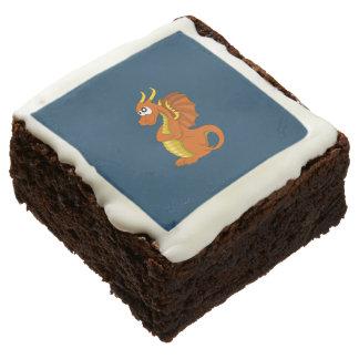 Dibujo animado anaranjado del dragón