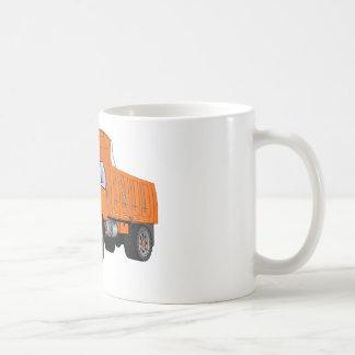 Dibujo animado anaranjado del quitanieves tazas