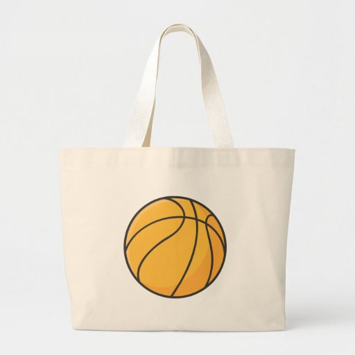 Dibujo animado anaranjado fresco del baloncesto bolsa