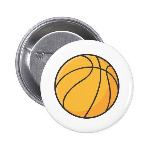 Dibujo animado anaranjado fresco del baloncesto pin