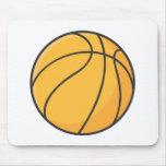 Dibujo animado anaranjado fresco del baloncesto tapete de ratón