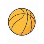 Dibujo animado anaranjado fresco del baloncesto postal