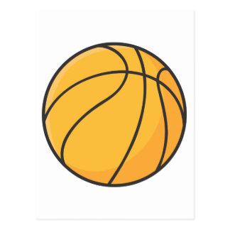 Dibujo animado anaranjado fresco del baloncesto tarjetas postales