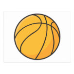 Dibujo animado anaranjado fresco del baloncesto postales