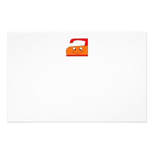 Dibujo animado anaranjado y rojo del hierro. En bl Flyer A Todo Color