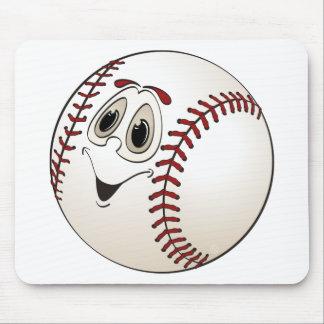 Dibujo animado anguloso del béisbol mousepad