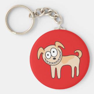 Dibujo animado animal de perrito de los niños lind llavero personalizado