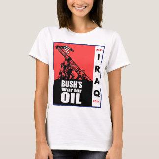 Dibujo animado anti de la guerra de Bush Iraq por Playera