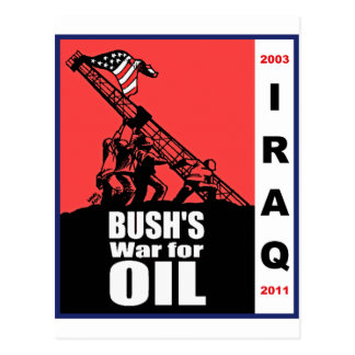 Dibujo animado anti de la guerra de Bush Iraq por Postal