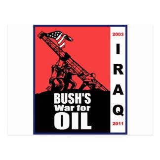 Dibujo animado anti de la guerra de Bush Iraq por Postales