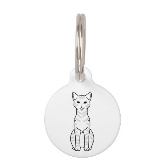 Dibujo animado árabe del gato de Mau Placa Para Mascotas