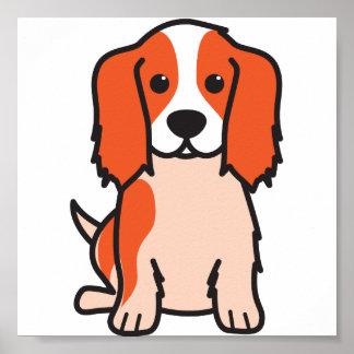 Dibujo animado arrogante del perro del perro de ag póster
