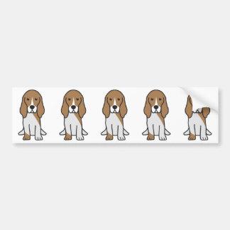 Dibujo animado artesiano del perro de Normand del Pegatina Para Auto