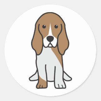 Dibujo animado artesiano del perro de Normand del Pegatina Redonda