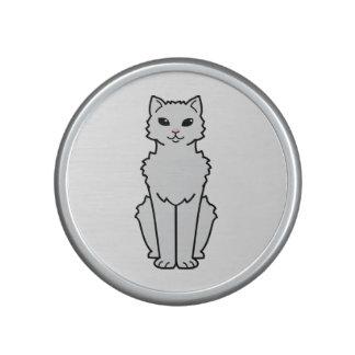 Dibujo animado ártico del gato del rizo altavoz bluetooth
