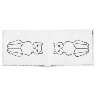 Dibujo animado ártico del gato del rizo billeteras tyvek®
