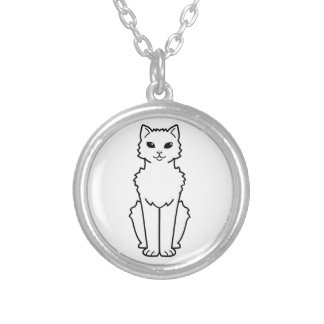 Dibujo animado ártico del gato del rizo colgante redondo