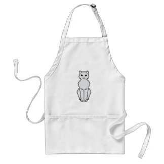 Dibujo animado ártico del gato del rizo delantal