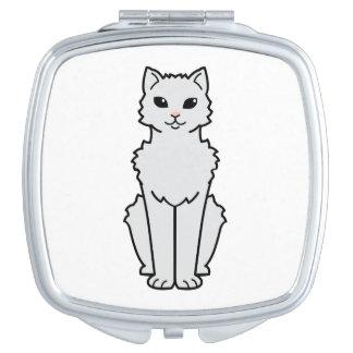 Dibujo animado ártico del gato del rizo espejo compacto
