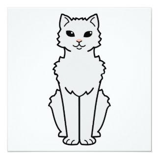 Dibujo animado ártico del gato del rizo invitación 13,3 cm x 13,3cm