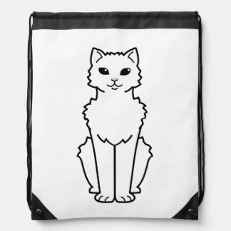 Dibujo animado ártico del gato del rizo mochilas
