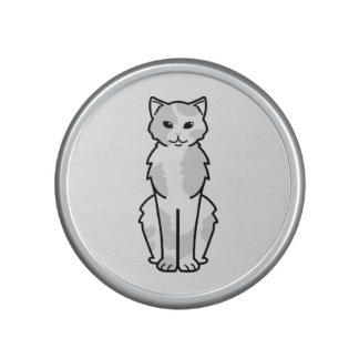 Dibujo animado asiático del uno mismo y del gato altavoz