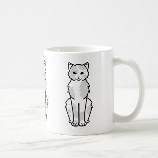 Dibujo animado asiático del uno mismo y del gato taza clásica