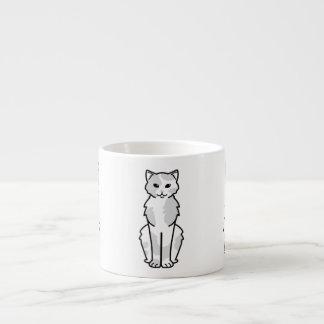 Dibujo animado asiático del uno mismo y del gato taza espresso